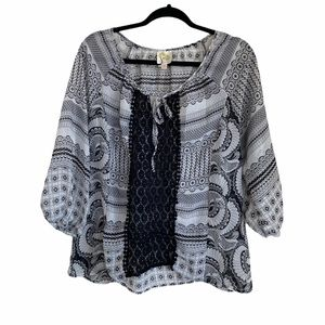 Anthropologie Fig & Flower Tunic Top